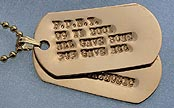 debossed gold dog tags