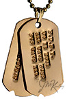 gold debossed dog tags with notch