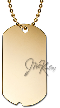 gold dog tags with notch