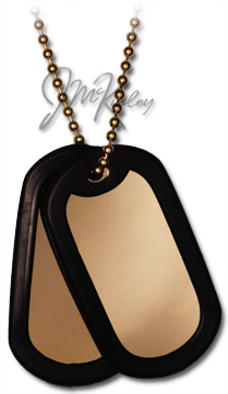 14k gold dogtags with silencers