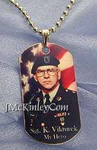 14k gold picture dog tags