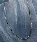 gold over silver ball chain