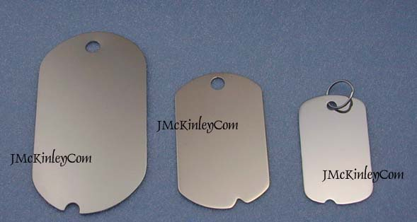 white gold dog tags